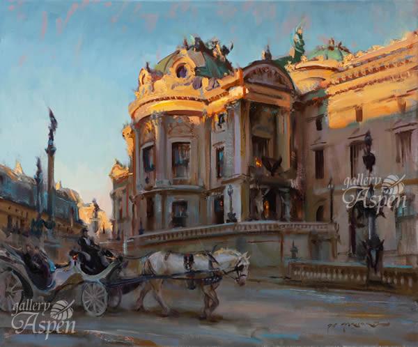夕陽に染まるのパリのオペラ座
